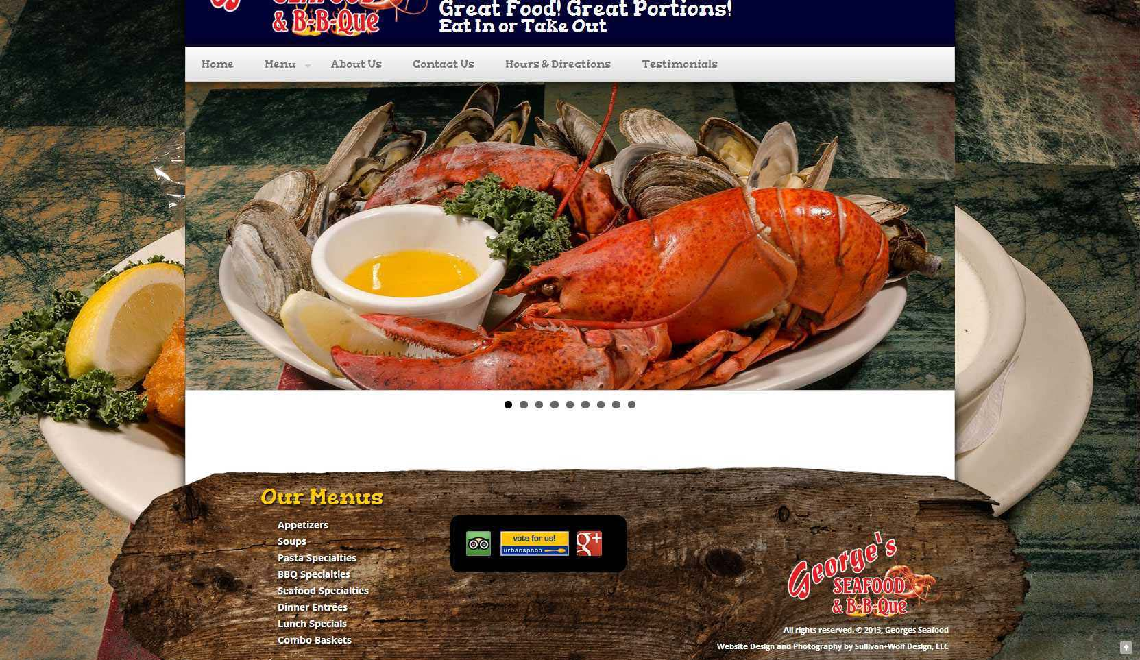 Restaurant Website Plymouth Nh